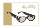 Happy Birthday Eyeglasses Affiches