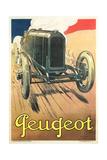 Vintage Peugeot Kunstdrucke