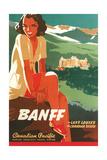 Banff Travel Poster Kunstdrucke