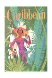 Caribbean Travel Poster Kunstdrucke