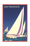 Sailboats in San Francisco Bay Posters