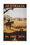 Australia Travel Poster, Sheep Poster