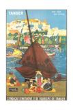 Tangier Travel Poster Kunstdruck