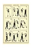 Chart of Boxing Moves Kunstdruck