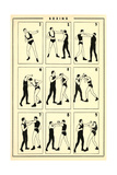 Chart of Boxing Moves Premium Giclee Print