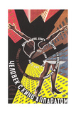 Russian Film Poster with Limbs Premium Giclee Print