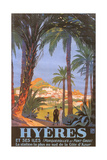 Travel Poster for Hyeres Prints