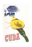 Travel Poster for Cuba Kunstdrucke