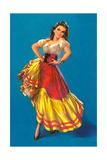 Mexican Senorita Dancing Poster