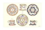 Sevres Porcelain Plates and Cups Lámina giclée prémium