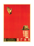 Russian Man of Fire Film Poster Lámina giclée prémium