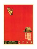 Russian Man of Fire Film Poster Premium Giclee Print