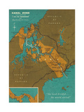 Map of Panama Canal Zone Kunstdrucke