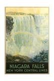 Niagara Falls Travel Poster Premium Giclee Print