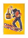 Cherry Liqueur Ad Giclée-Premiumdruck