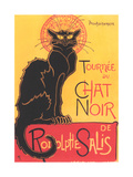 Art Deco Chat Noir Poster Reproduction giclée Premium