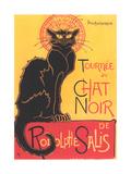 Art Deco Chat Noir Poster Prints