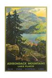 Adirondacks Travel Poster Kunst