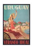 Travel Poster for Uruguay Prints