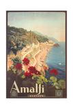 Travel Poster for Amalfi Giclée-Premiumdruck