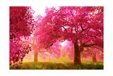 Mysterious Japanese Cherry Blossom Tree Sakura Render Poster von  boscorelli