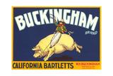 Buckingham Pear Label Posters