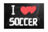 I Love Soccer Prints by Krasimira Nevenova