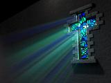 Stained Glass Window Crucifix Valokuvavedos tekijänä  Inked Pixels