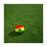 Ghanaian Soccerball Lying on Grass Poster af  zentilia