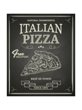 Italian Pizza Poster on Black Chalkboard Prints by  hoverfly