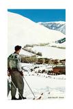 Skier Looking over Sun Valley Resort Pósters