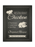 Restaurant Poster on Blackboard Prints by  hoverfly