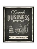 Business Lunch Poster on Blackboard Plakater af  hoverfly