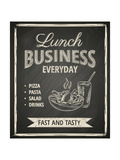 Business Lunch Poster on Blackboard Print by  hoverfly