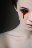 Portrait of a Female Vampire over Black Background Photographic Print by  Lisa_A