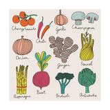 Tasty Vegetables Print by  smilewithjul