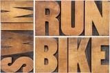 Run, Bike, Swim Reproduction photographique par  PixelsAway