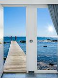 Sea View from the Pier Fotografie-Druck von Dmitry Bruskov