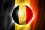 Soccer Football Ball with Belgium Flag Affiches par  daboost
