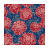 Gorgeous Red Flowers on Blue Background Poster by  hoverfly
