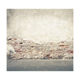 Aged Street Wall Background, Texture Affiches par  donatas1205