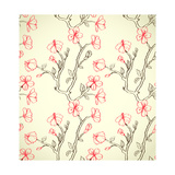 Hand Drawn Floral Wallpaper Posters by  hoverfly