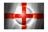 Soccer Football Ball with England Flag Print by  daboost