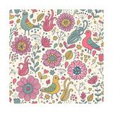 Pigeons in Flowers Prints by  smilewithjul