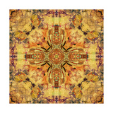 Art Nouveau Geometric Ornamental Vintage Pattern in Beige and Brown Colors Posters av Irina QQQ