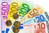 Euro Money Banknotes of the European Union Fotografisk trykk av  ginasanders