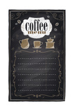Vintage Chalk Coffee Menu Posters tekijänä  Selenka