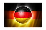Soccer Football Ball with Germany Flag Poster av  daboost