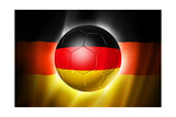 Soccer Football Ball with Germany Flag Kunstdruck von  daboost