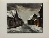 Allainville Sous la Neige  1946